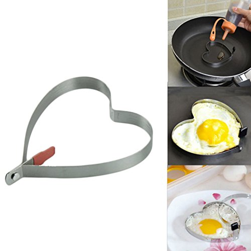 Cook Fried Egg Pancake Stainless Steel Heart Shape Mould Mol