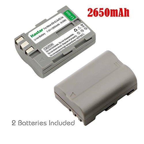 Kastar Battery (2-Pack) for Nikon EN-EL3e, EN-EL3a, EN-EL...