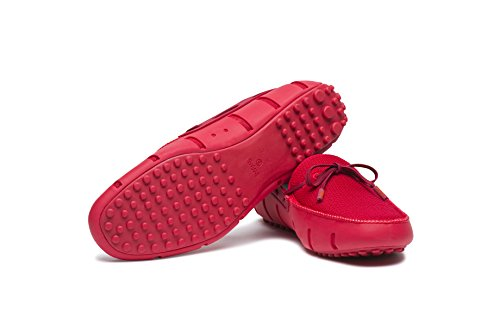 Zwemt Mens Lux Lace Loafer Driver Dt Rood