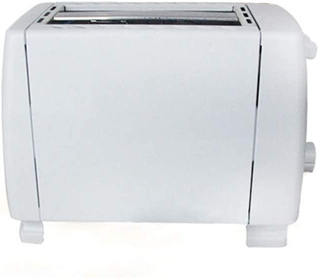 KLYHCHN Toaster Removable Crumb Tray, Compact Stainless Steel Automatic Toaster 2 Slices Slots Stainless Steel Automatic Electric Bread Toaster Mini Household Breakfast Baking (White)