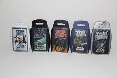 Top Trumps card game - Star Wars 5 pack with Episodes 1-3, 4-6, StarShips, Clone Wars and Rise of the Bounty Hunter