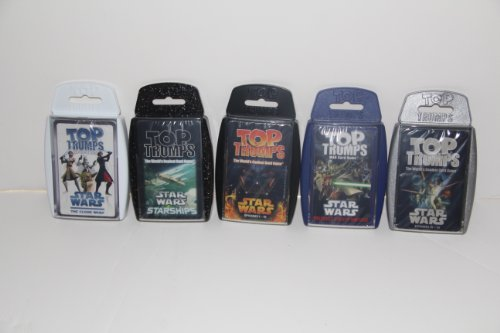 Top Trumps card game - Star Wars 5 pack with Episodes 1-3, 4-6, StarShips, Clone Wars and Rise of the Bounty (Stars Wars Ships)