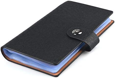 HOGAR AMO Libros de tarjetas de visita Cuero de PU Organizador para Tarjeta de Identificación, Tarjeta Bancaria, tarjeta de Autobús, Estuche duro Titular de 240 Tarjetas - Negro: Amazon.es: Oficina y papelería