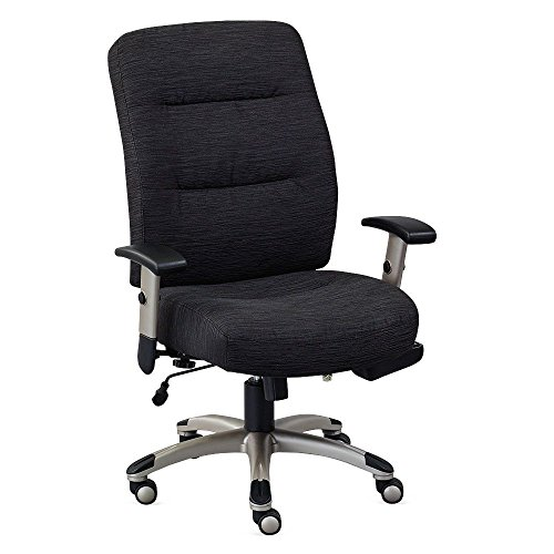 Heated Fabric Task Chair Jet Black Fabric Silver Frame Dimensions  26 5 W X 29 5 D X 40 75 44 5 H Seat Dimensions  21 Wx19 75 Dx19 22 H