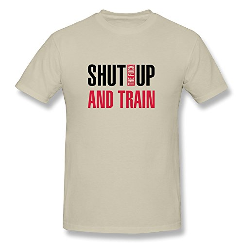 SNOWANG Men's Shut Train T-shirt L