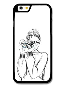 Wholesale diy case Accessories Girl with a Camera Sketch Original Art Illustration case for iPhone 6
