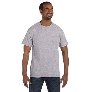 Gildan 5.3 oz. Heavy Cotton T-Shirt, Large, Sport Grey