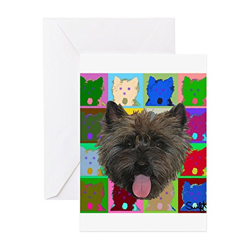 CafePress - Cairn Terrier - Greeting Card, Note Card, Birthday Card, Blank Inside - Terrier Cards Note Cairn