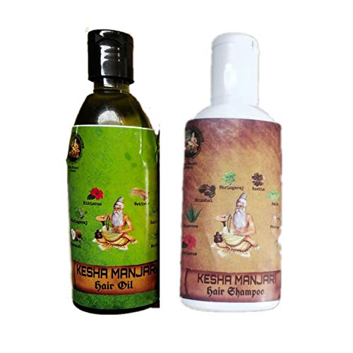 Kesha Manjari Organic Hair Oil And Hair Shampoo Combo (Pack of 2)