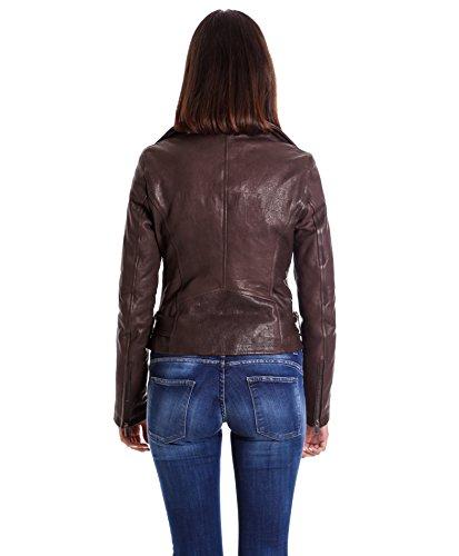 Chiodo Colore Sandy Effetto Cintura Giacca D'arienzo In Coccodrillo Con Pelle Marrone 5qHEcdw