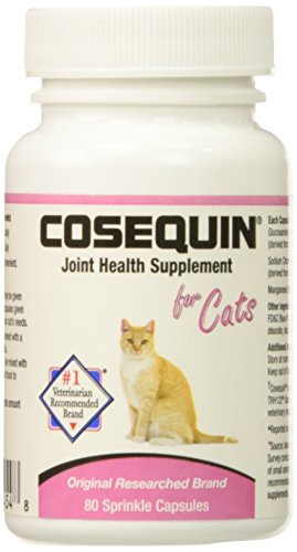 Nutramax Laboratories 2 Pack Cosequin for Cats 80 Count (160 Capsules)