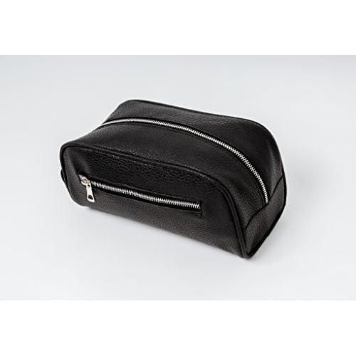 Le meilleur sac de toilette homme en faux cuir Bennys of London VENTE MAINTENANT parfait gar/çon et homme cadeaux et id/éal pour les voyages TROUSSE DE TOILETTE pour Homme