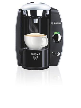 Bosch TAS4211- Cafetera multibebidas automática Tassimo, 1300 W, 1 Taza, 2 L, color plateado y negro: Amazon.es: Hogar