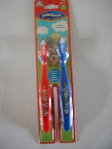 smile guard looney tunes baby tweety and friends toothbrush 2 pc pack about medical. Black Bedroom Furniture Sets. Home Design Ideas