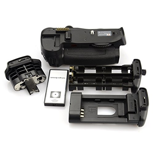 DSTE Replacement for Pro IR Remote MB-D10 Vertical Battery Grip Compatible Nikon D300 D300S D700 D900 SLR Digital Camera as EN-EL3E ()
