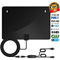 TV Antenna,2018 New Version HD Antenna Indoor 50-70 Miles Long Range,Amplified Digital TV Antenna Indoor High Definition with 10+3 FT Cable and USB Power Supply