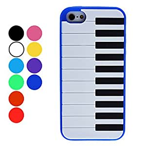 Piano Keyboard Style Soft Case for iPhone 5 (Assorted Colors) , Red