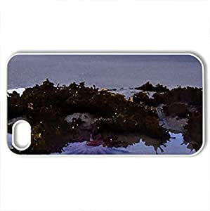beautiful starfish on a beach - Case Cover for iPhone 4 and 4s (Beaches Series, Watercolor style, White)