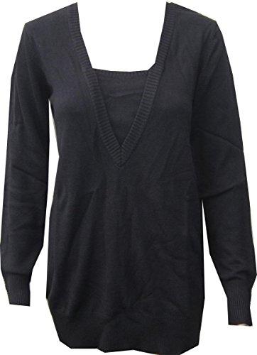 Jersey de heine Cuello Pico en negro Negro