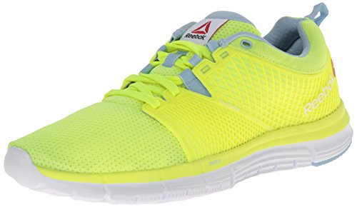 Dash Denim - Reebok Women's Zquick Dash-W, Solar Yellow/Denim Glow/White, 7.5 M US