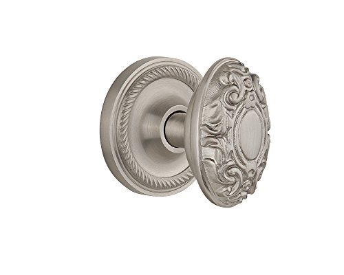 Nostalgic Warehouse Rope Rosette with Victorian Knob, Privacy - 2.75