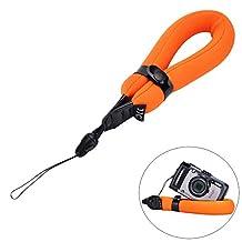 Camera Float Foam Wrist Strap JJC Waterproof Camera Floating Strap for Olympus TG-5 TG-4 TG-3 TG-2 TG-1 TG-870 TG-860 TG-850 TG-810 TG-610 TG-320 TG-310 GoPro HERO4 HERO3+ Canon D10 D20 D30-Orange