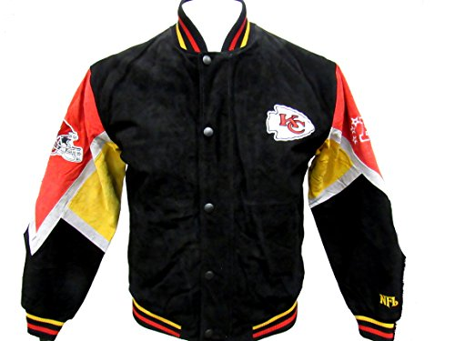 (G-III Mens Kansas City Chiefs Full Zip and Snap Soft Leather Jacket, Size Medium)