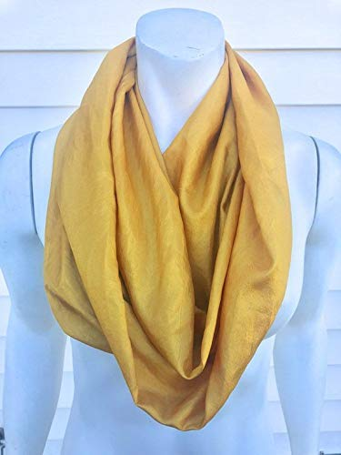 60d3ccc9e33 Amazon.com  Mustard Yellow Silk Scarf  Handmade