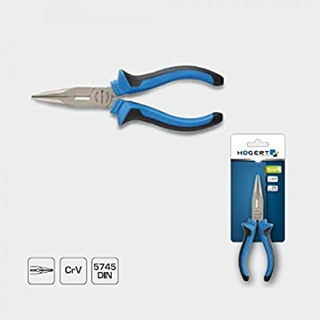 högert plano redondo Teléfono Alicate con corte de 160 mm HRC 58 - 62 DIN 5745: Amazon.es: Bricolaje y herramientas