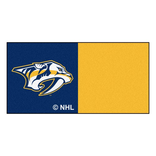 FANMATS NHL Nashville Predators Nylon Face Team Carpet Tiles by Fanmats