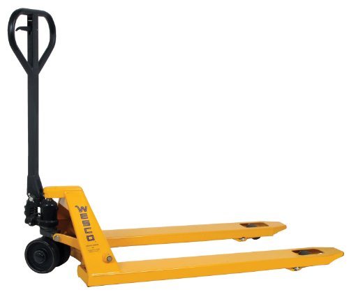 Wesco Industrial Products 272149 Economizer Pallet Truck with Handle, Polyurethane Wheels, 4400 lb. Load Capacity, 63'' Length x 27'' Width x 48-1/4'' Height by Wesco