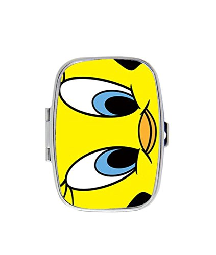 Tweety Bird Custom Fashion Style Rectangle Pill Box Silver Jewelry Box,Coin ()