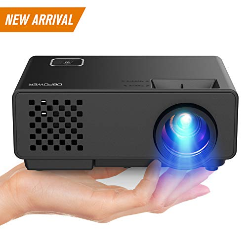 DBPOWER Projector - Mini Portable Video Projector 176'' Display 50,000 Hours LED Full HD Projector 1080P 2018 Released, Compatible with HDMI VGA AV USB Amazon Fire TV Stick by DBPOWER