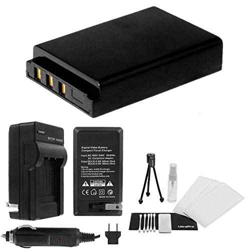 KLIC-5001 High-Capacity Replacement Battery with Rapid Travel Charger for Kodak EasyShare Z7590 Z760 - UltraPro Bonus Included: Camera Cleaning Kit, Camera Screen Protector, Mini Travel Tripod