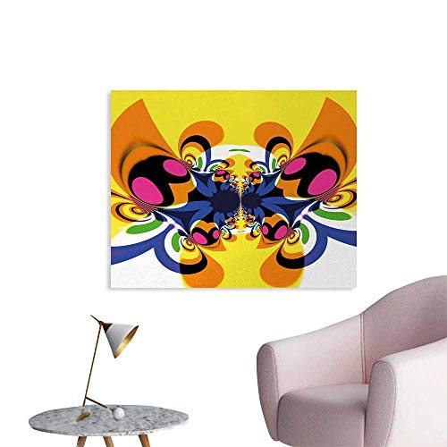 Tudouhoho Modern Art Art Poster Trippy Butterfly with Morphing Dynamic Forms Digital Made Entoptic Design Print Wall Sticker Decals Multicolor W28 xL20 (Best Baby Morphing App)