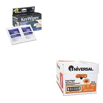 kitrearr1233unv21200 - Value Kit - leer derecho keywipes teclado Amp; amp; Mano Limpiador toallitas húmedas (rearr1233) y Universal copia papel (unv21200): ...