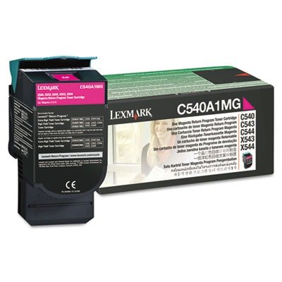 Original Lexmark C540A1MG 1000 Yield Magenta Toner Cartridge - Retail (Toner De Sharp compare prices)