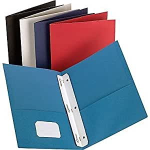Staples 2 pocket folder with fasteners assorted by staples oficina y papeler a - Staples productos de oficina ...