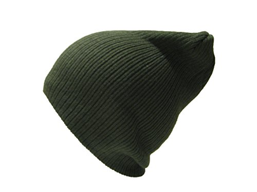 Hombre Olive oliva verde Beanie Fit Baggy suave gorro Verde Unisex de Slouch tacto Mujer r7COqr