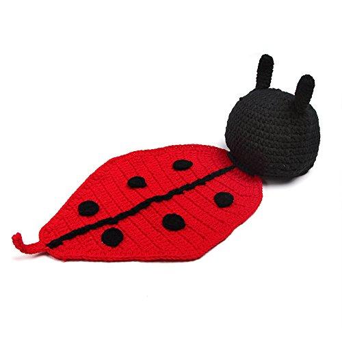 Newborn Cartoon Ladybug Handmade Crochet Knitted Photo Prop Outfits Fashion Costume 2016 -
