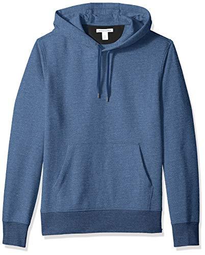 Amazon Essentials Men's Hooded Fleece Sweatshirt, Blue Heath