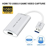 if-link Video Capture Devices HDMI to USB 3.0 Full HD 1080P Live Video Capture Game Capture Recording Box HDMI USB 3.0 Adapter Video & Audio Grabber for Windows, Mac OS X and Linus System (Sliver)