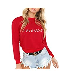 Baby Room Women's Friends Letters Graphic Shirt Casual Long Sleeve Sweatshirt