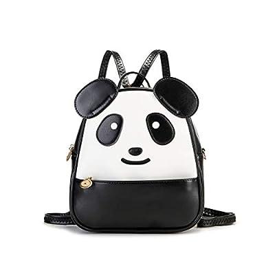 KL928 Cute Mini Backpack Toddler Animal Casual Daypack PU Leather Preschool Convertible Shoulder Bag Gift for Kids Boys Girls (Panda)   Kids' Backpacks