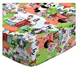 SheetWorld Fitted Pack N Play Sheet Fits Graco Square Playard 36 x 36 - Animal Picnic - Made In USA