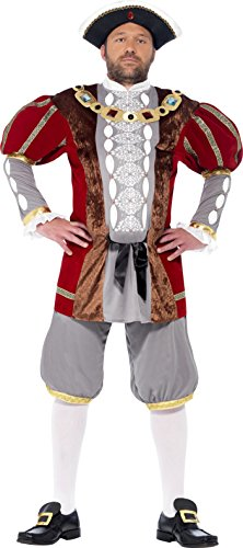 [Smiffy's Men's Henry VIII Deluxe Costume, Jacket and pants, Tales of Old England, Serious Fun, Size L,] (Toddler King Costumes)