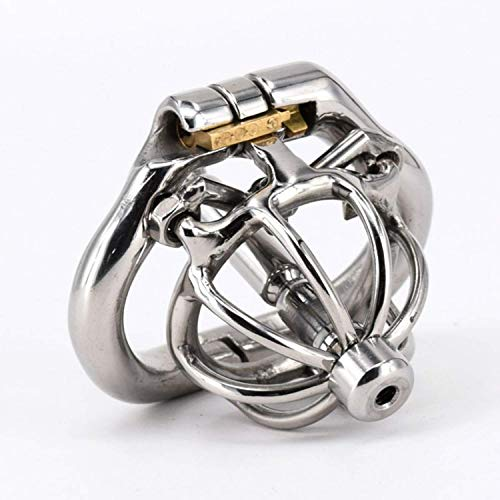 ty Cage Spiked Cock Cage Stainless Steel with Urethral Stretcher Super Small Chastity Penis Lock Ring,36mm T-Shirt ()