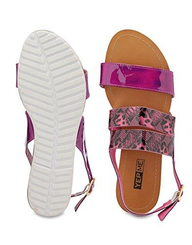 Yepme - Sandalias de vestir de Material Sintético para mujer morado morado