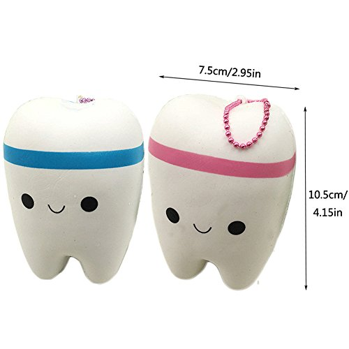 Miraclekoo Jumbo Slow Rising Squishy Cartoon Tooth Kawaii Squishy Toys Slow Rebound, 1Pcs,Random Color