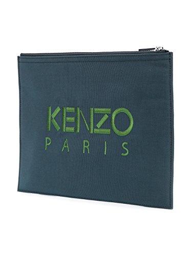 Kenzo Herren F855PM302F2097 Blau/Grau Polyester Clutch